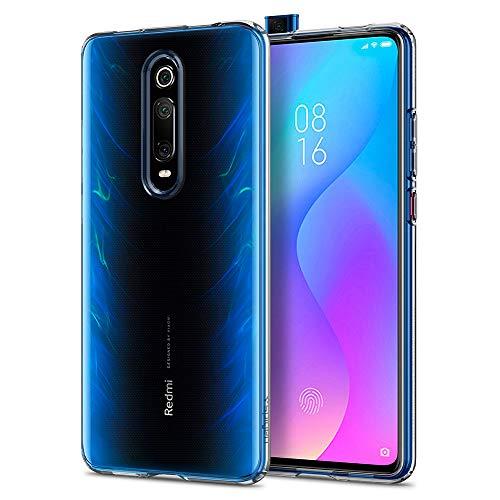 Spigen, Funda Compatible con Xiaomi Mi 9T / Mi 9T Pro/Redmi K20 / K20 Pro [Liquid Crystal] Protección Delgada de Gel Silicona y claridad Premium de TPU [Compatible con Carga Inalámbrica] - S53CS26404