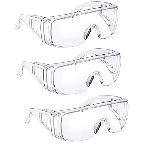 Safety Glasses Over Glasses Goggles Protective Eyewear - Anti Fog Glasses Shooting Glasses Eye Protection...
