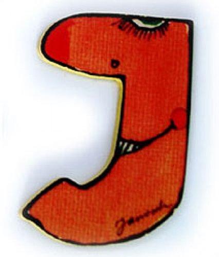 Janosch Holzbuchstabe J farblich sortiert