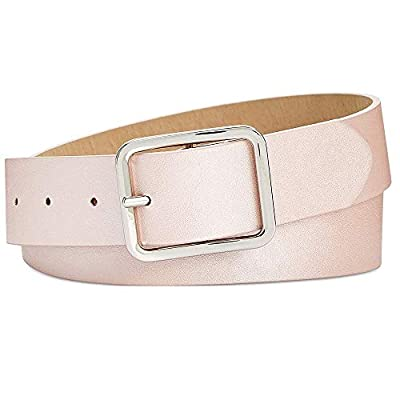Inc International Concepts Casual Solid Belt (Blush Silver, Medium)