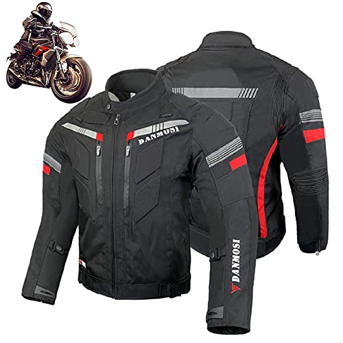 Chaqueta para Moto Hombre, Chaqueta de Motocicleta para Motociclista, Esistente al Viento...