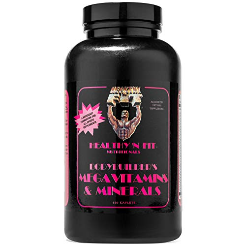 Healthy 'N Fit Bodybuilder's Mega Vitamins and Minerals 180 Tablets High Potency Daily Multivitamin/MultiMineral