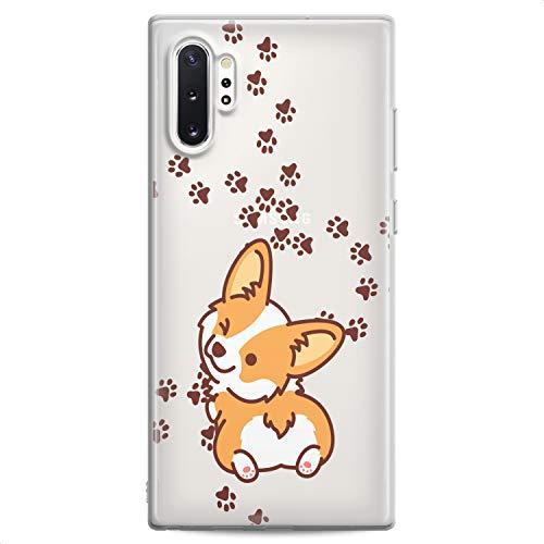 Cavka TPU Case Replacement for Samsung Galaxy J8 J7 Max Cover J6 Plus J5 J4 J3 Pro J2 Design Corgi Kawaii Cute Funny Animals Teen Print Dog Puppy Wink Flexible Silicone Slim fit Clear Soft Cute Paws