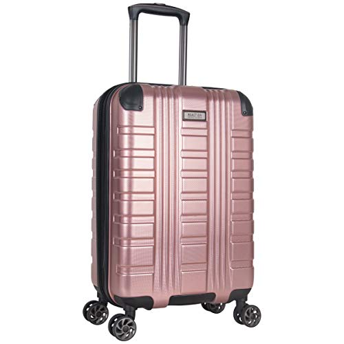 Kenneth Cole Reaction Scott's Corner Hardside Expandable 8-Wheel Spinner TSA Lock Travel Suitcase, Rose Gold, 20-inch Carry On