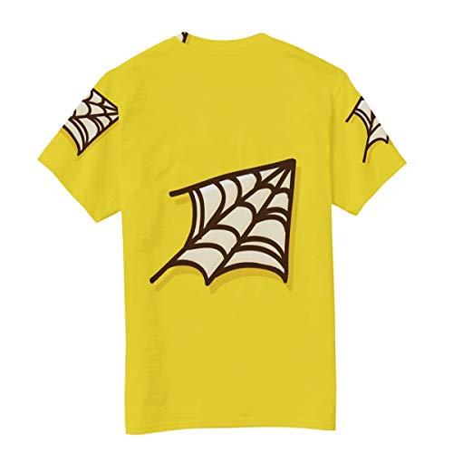 DEZIRO Spider Net Halloween heren werkkleding T-Shirt korte mouwen