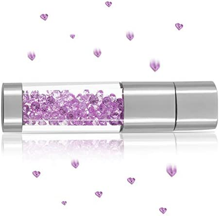 USB Flash Drive 64GB Techkey Crystal Jewelry Pen Drive with Silver Polishing Cloth and Velvet product image