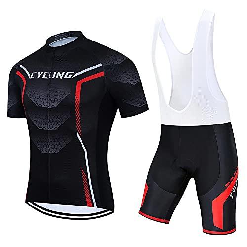SUDUSUDO - Conjunto de camiseta de ciclismo para hombre, transpirable, con gel 20D acolchado, M, Ee05
