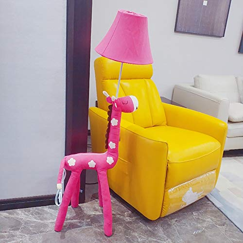 Cartoon Stehleuchte Kreative Nordic Niedlich Wohnzimmer Schlafzimmer Stehlampe Persönlichkeit Moderne Stehleuchte 130 cm Hohe (Color : Pink, Size : Dimmer Switch)
