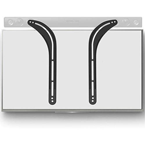 WALI Universal Sound Bar Bracket for Mounting, Fits 32 to 70 inch TVs, 33 lbs. Weight Capacity (SBR201), Black