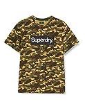Superdry Cl tee Camiseta, Army Camo, XL para Hombre