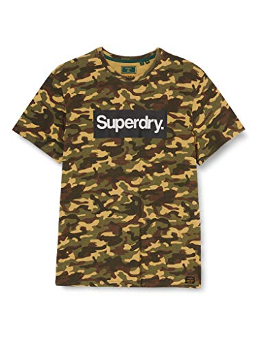Superdry Cl Tee T-Shirt, Army Camo, 2XL Homme