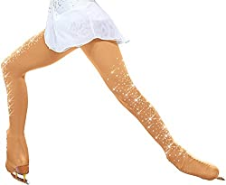 c69e858de7161 Chloe Noel Figure Skating Over the Bootタイツwith Crystals on Both Legs tb8832