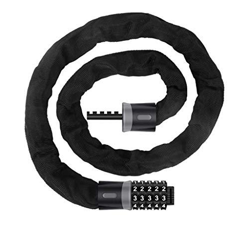 Lucchetti cavoCable Lock Bike Lock Catena Password di Blocco antifurto Cut Lega di Acciaio di Sicurezza del motorino della Bici del Motociclo Codice Wire (Color : Black 2, Dimensione : 65cm)