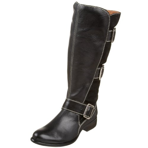 Corso Como Women's Saddle Buckle Boot,Black Nubuck Multi,10.5 M US