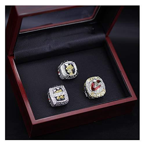 Z/A NBA para el anillo de campeonato LeBron James baloncesto Los Angeles Lakers tamaño 11 Fan souvenirs réplica movimiento anillo con caja de madera (con caja)