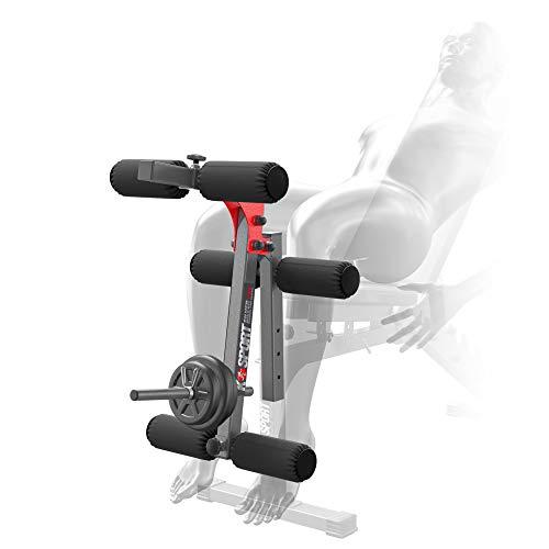 Ksport : Appareil de musculation pour les jambes pour le banc de musculation I Pour étirer les jambes & flexions de jambes I Appareil de fitness professionnel pour la maison