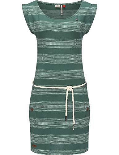Ragwear Damen Sommerkleid Freizeitkleid Jersey Kleid Tag Blockstripes Intl. Dusty Green Gr. L