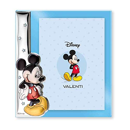 Disney Baby - Mickey Mouse - Marco de fotos decorativo - Ideal para habitaciones infantiles - Plata - Imagen de Mickey en 3D y en color