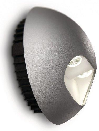 Philips Ledino Applique LED Aluminium Gris 2 x 25 W