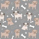 Mops-Fleecestoff – Oh My Pug! Hund – Fleece –