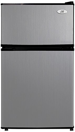 Sunpentown RF-314SS 3.1 cu.ft. Double Door Refrigerator with Energy Star-Stainless Steel, Cubic Feet, Gray