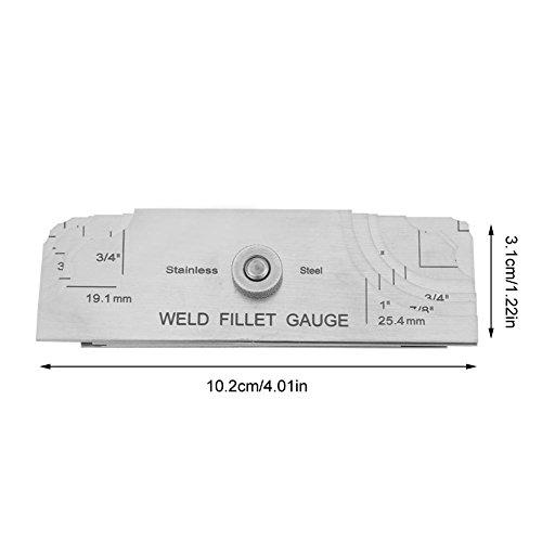 Stainless Steel Welding Gauge,Welding Gauge Gage Test Ulnar Welder Inspection Gauge Both Inch and Metric,Fillet Weld Gauge Photo #3