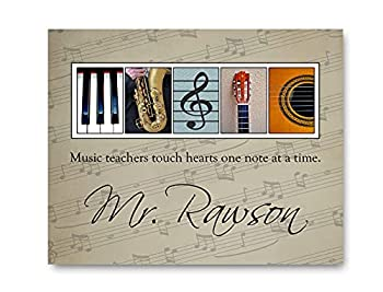 PERSONALIZED Gift for Music Teacher - Wall Art for Music Teacher - Music Teacher Appreciation Gift - Gift for Band Leader or Director