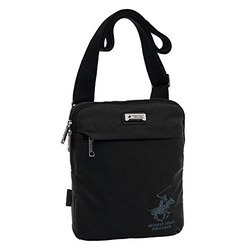 Beverly Hills Polo Club 5115851 Bolso Bandolera, 1.78 litros, Color Negro