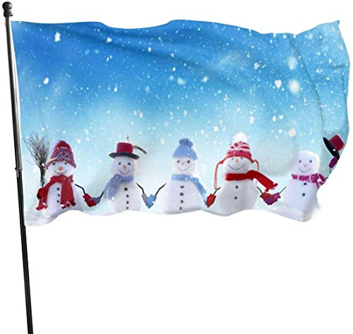 Zikely Saisonfeiertags-Yard-Flaggen-Fahne Garden Flags-Winter-Snowman Home Garden Flag Garden House Outdoor Banners Decorative Flag