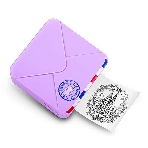 Phomemo M02S Mini impresora térmica - 300 ppp HD Bluetooth impresora móvil compatible con iOS y...