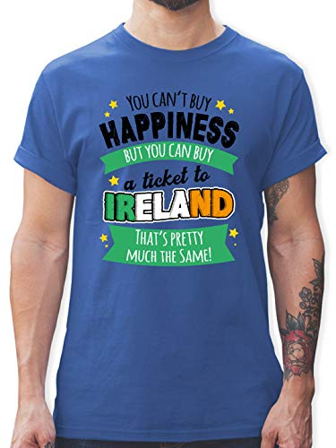 St. Patricks Day - A Ticket to Ireland - schwarz - M - Royalblau - st Patricks Day Herren - L190 - Tshirt Herren und Männer T-Shirts