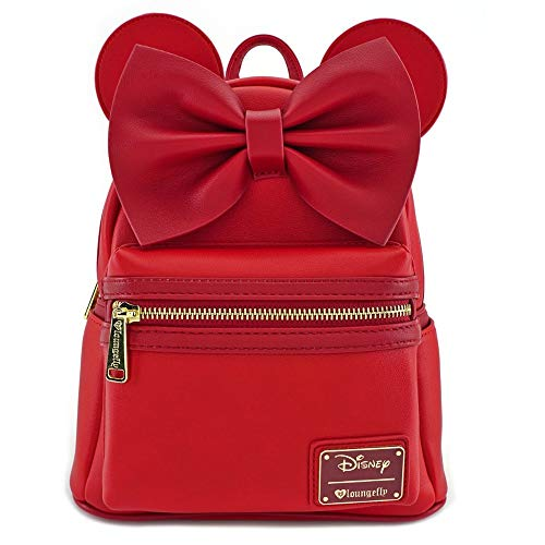 Loungefly Minnie Mouse Red Faux Leather Mini Backpack Standard, medium