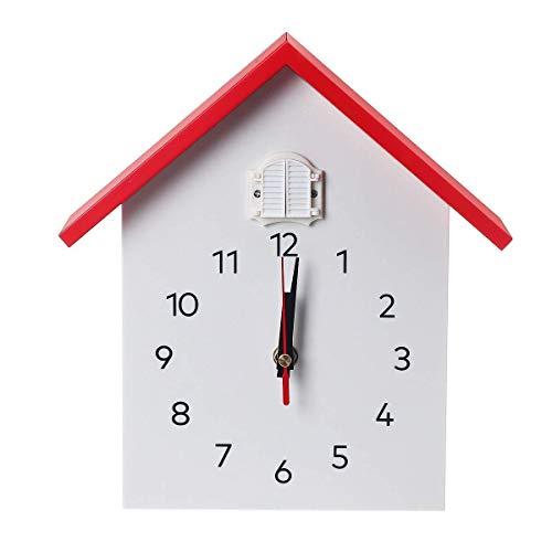 YWTT Reloj de Pared de Cuarzo Reloj Colgante de pájaro Mode
