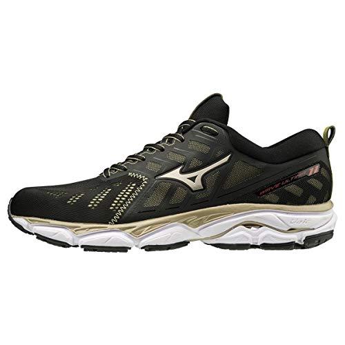 Mizuno Wave Ultima 11 Amsterdam, Zapatillas de Running por Hombre, Negro (Black/Gold/White 01), 43 EU