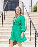 The Drop Vestido Verde Esmeralda Cruzado por Delante por @graceatwood, XXS