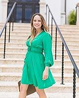 The Drop Vestido Verde Esmeralda Cruzado por Delante por @graceatwood, S