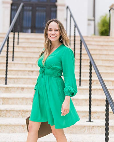 The Drop Women's Emerald Crossover-Front Dress by @graceatwood