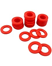 Busy-Corner Outdoor Garden Hose Silicone Washer Gasket, 42 Piece,Red Color,Soft Silicone O-Ring Gasket,for 3/4 Inch Hose Fitting,Water Faucet,Washing Machine(42, 1'' x 5/8'' x 1/8'')