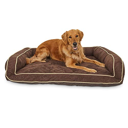 """Memory Foam Brown Couch Dog Bed, 48"""" L x 36"""" W, X-Large"""