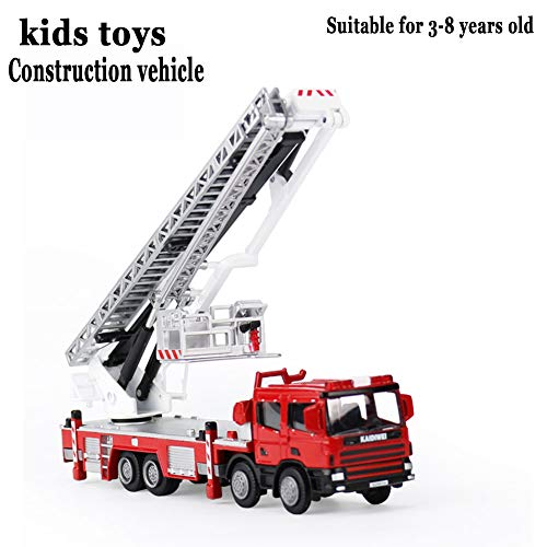QZH Camion de Pompiers, véhicules de Construction 1:50 inertielle Toy modèle de Voiture Simulation écologique en Plastique Convient pour Les Enfants de 3-8 Anniversaire Cadeaux de Noël
