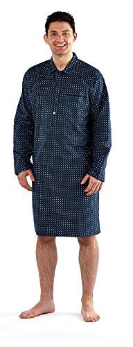 Mens-NightShirt-Traditional-Paisley-100/% cotton Flannel warm Harvey James