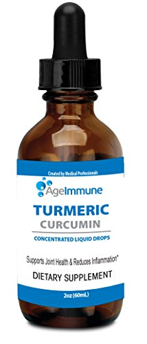 Organic Turmeric Curcumin 775mg Liposomal Extract 95% Supplement with Black Pepper as Bioperine in a Form of Turmeric Liquid Drops (2 oz) in a Glass Bottle
