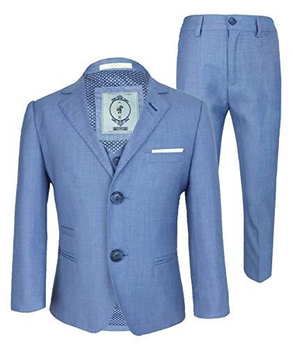 Blue Jay Designer Cavani Slim Fit Hochzeitsanzug für Jungen 3 Stück Himmelblau 9 Jahre