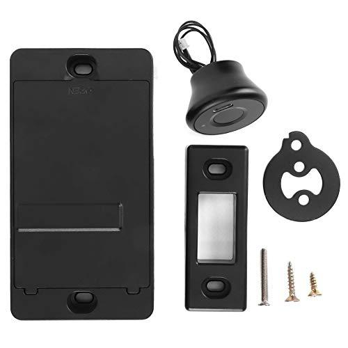 Omabeta Biometric Semiconductor Smart Fingerprint Drawer Lock USB Rechargeable Cabinet Lock Fingerprint Lock,for Home Office Household Supplies