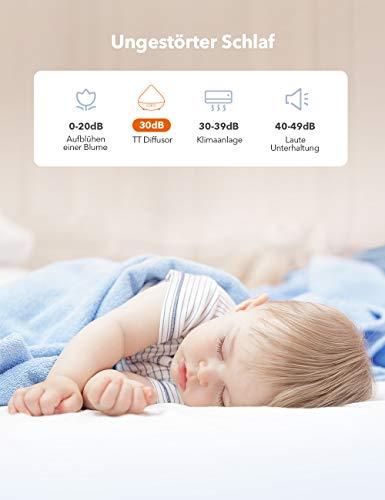Aroma Diffuser 300ml TaoTronics Luftbefeuchter Oil Düfte Humidifier Holzmaserung LED mit 7 Farben für Yoga Salon Spa Wohn-, Schlaf-, Bade- oder Kinderzimmer Hotel - 4