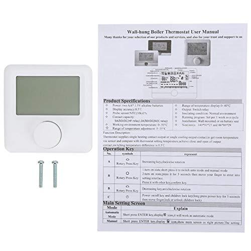 Termostato digital, termostato programable de calefacción, controlador de temperatura digital, hogar para el parque de laboratorio de la escuela de posgrado