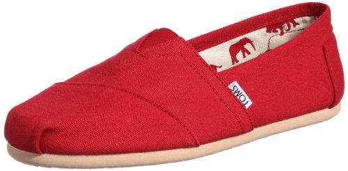 TOMS Ash Canvas Classic Men 001001A07-RED,Size 8.5 US