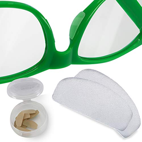 Setex Gecko Grip UltraThin 06mm AntiSlip Nose Pads for Eyeglasses 5 Clear Pair USA Made MicroStructured Fibers 06mm x 7mm x 16mm