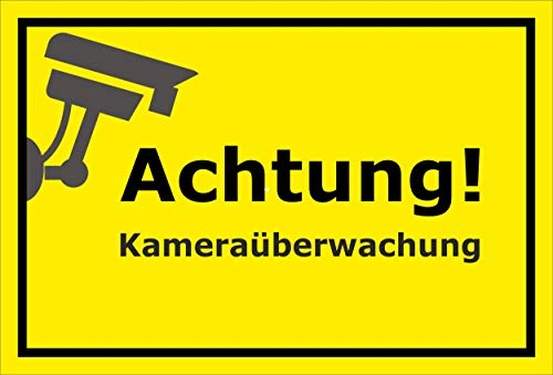 Melis Folienwerkstatt sticker schild - camera-bewaking - S00348-125-C