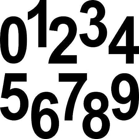 Greenit 10 Stück 12cm Schwarz Ziffer Ziffern Zahl Zahlen Nummer Hausnummer Aufkleber Die Cut Tattoo Deko Folie Auto